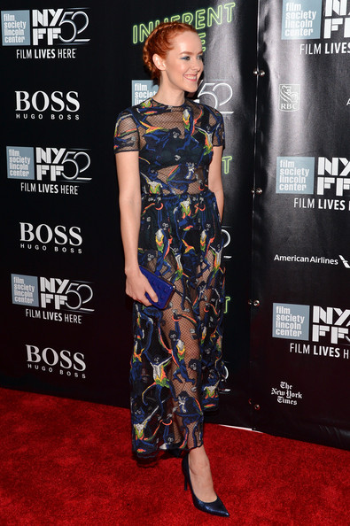 More Pics of Jena Malone Sheer Dress (8 of 20) - Dresses & Skirts Lookbook - StyleBistro []