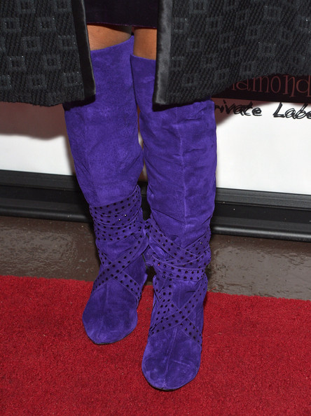 More Pics of Chaka Khan Knee High Boots (1 of 24) - Chaka Khan Lookbook - StyleBistro