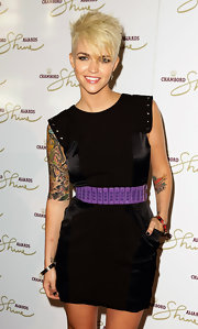 Ruby Rose showed off her heart tattoo while hitting the Chambord Shine Awards.