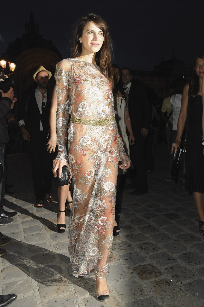 Caroline Sieber arrives for the Chanel Haute Couture Fall/Winter 2011/2012 show as part of Paris Fashion Week  on July 5, 2011 in Paris, France.