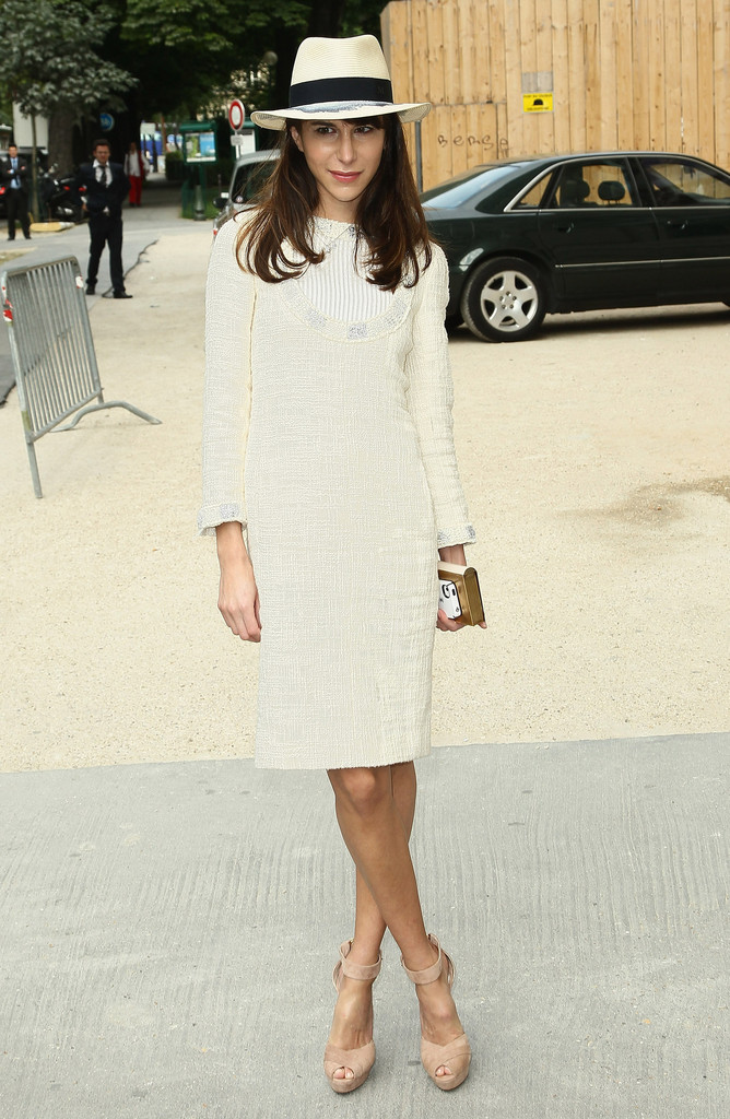 Caroline Sieber attends the Chanel Haute-Couture Show as part of Paris Fashion Week Fall / Winter 2012/13 at Grand Palais on July 3, 2012 in Paris, France.
