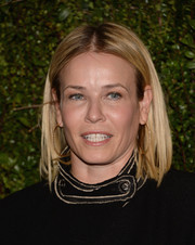Chelsea Handler kept it basic with this straight center-parted 'do when she attended Drew Barrymore's book release party.