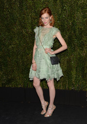 Jessica Joffe donned a deconstructed-chic mint-green cocktail dress for Drew Barrymore's book release party.