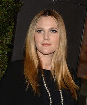 Drew Barrymore sported a classic center-parted 'do during her book release party.