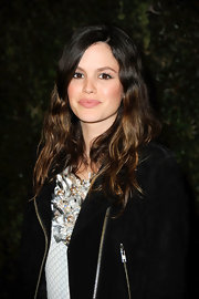 Rachel Bilson attended the Chanel and Charles Finch pre-Oscar Dinner wearing her long hair in tousled waves.