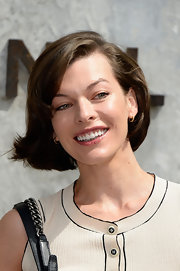 Milla rocked a flipped out bob for a fun and fresh look at the Chanel Haute Couture show.