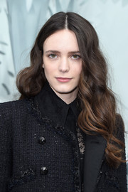 Stacy Martin wore her tresses down with big waves during the Chanel Couture show.