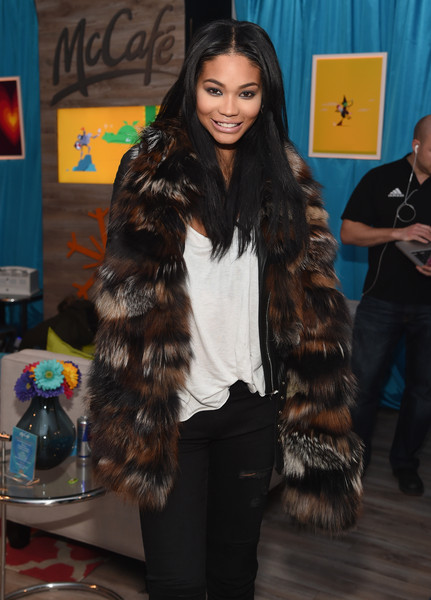 Chanel Iman Fur Scarf