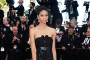Chanel Iman Strapless Dress