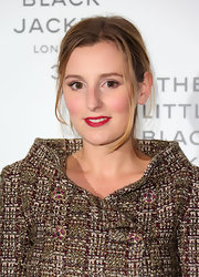 Laura Carmichael rocked red lips at the Chanel event.