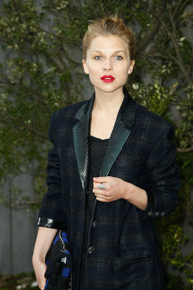 More Pics of Clemence Poesy Wool Coat (1 of 8) - Wool Coat Lookbook - StyleBistro