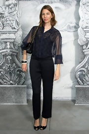 Sofia's sheer blouse was a romantic choice for the Chanel Couture Fall 2012 show.