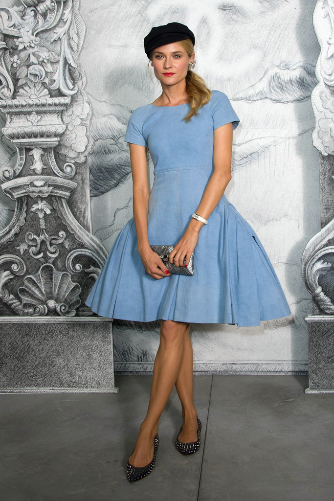 Diane+Kruger in Chanel: Photocall - Paris Fashion Week Haute Couture F/W 2012/13