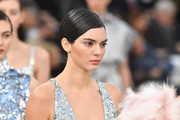 Kendall Jenner sported a perfectly sleek updo at the Chanel Haute Couture show.