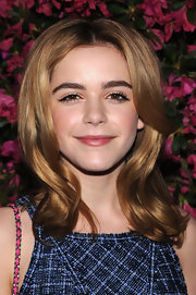 A clear lip gloss gave Kiernan Shipka just a touch of shine at the Chanel Tribeca Film Festival Artists Dinner.