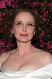 Julie Delpy kept her hairstyle simple and elegant with a pinned back 'do.