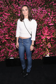 Sophie Auster topped off her casual evening look with these skinny jeans.