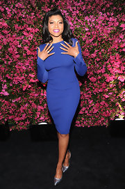 A fitted, long-sleeve dress looked chic and classic on Taraji P. Henson.