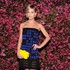 Leigh Lezark Lookbook: Leigh Lezark wearing Chanel Strapless Dress (2 of 4). Leight Lezark chose a blue and black checkered dress to top off her cool mod look at the Chanel Tribeca Film Festival Artists Dinner.