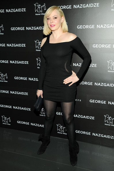 More Pics of Rose McGowan Little Black Dress (1 of 3) - Rose McGowan Lookbook - StyleBistro
