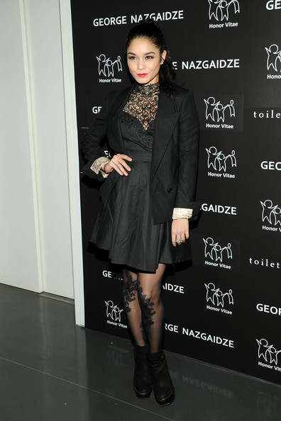 More Pics of Vanessa Hudgens Little Black Dress (1 of 14) - Vanessa Hudgens Lookbook - StyleBistro