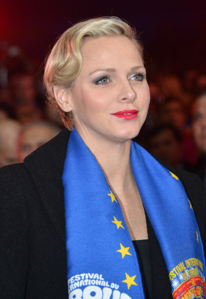 Charlene Wittstock Finger Wave [monte-carlo 37th international circus festival - closing ceremony,charlene of monaco,hair,face,hairstyle,blond,eyebrow,lip,beauty,chin,electric blue,premiere,monte-carlo 37th international circus festival closing ceremony,monte-carlo,monaco]