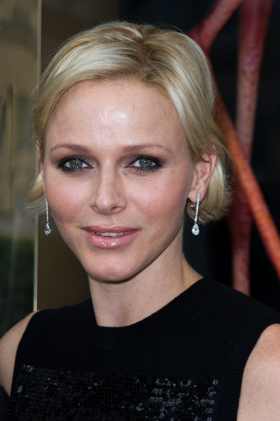 Charlene Wittstock Short Side Part [hair,face,eyebrow,blond,hairstyle,chin,lip,beauty,nose,forehead,charlene,haute couture f,part,paris haute-couture fashion week,paris,louis vuitton,place vendome,boutique opening,boutique opening,paris fashion week]