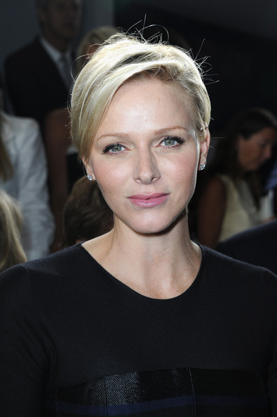 Charlene Wittstock Side Parted Straight Cut [dior cruise collection 2014,hair,face,eyebrow,hairstyle,blond,lip,beauty,chin,skin,fashion,charlene of monaco,front row,monaco,dior cruise collection,show]