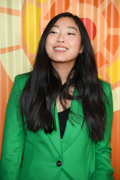 More Pics of Awkwafina Long Side Part (9 of 16) - Awkwafina Lookbook - StyleBistro [hair,face,green,yellow,forehead,long hair,smile,black hair,outerwear,photography,awkwafina,charlize theron africa outreach project,new york city,the africa center,fundraising event,charlize theron africa outreach project fundraising event]