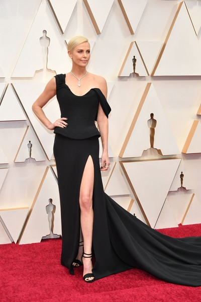 Charlize Theron Off-the-Shoulder Dress