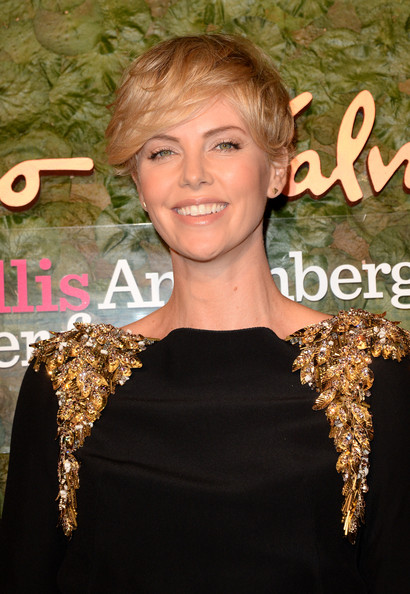 Charlize Theron Messy Cut