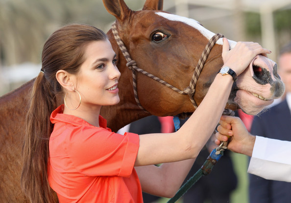 Charlotte Casiraghi Ponytail
