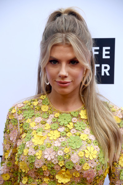Charlotte McKinney Ponytail [hair,hairstyle,clothing,fashion,blond,beauty,long hair,brown hair,dress,hair coloring,arrivals,charlotte mckinney,beverly hills hotel,california,daily front row,4th annual fashion los angeles awards]