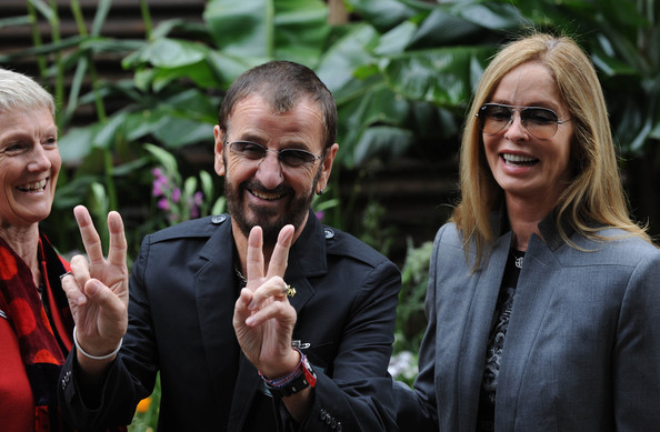 More Pics of Barbara Bach Fitted Jacket (5 of 5) - Outerwear Lookbook - StyleBistro [people,event,adaptation,glasses,gesture,smile,finger,plant,vision care,conversation,ringo starr,barbara bach,press,press,london,england,royal hospital chelsea,vip,chelsea flower show]