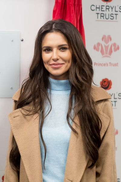 Cheryl Long Center Part [hair,face,hairstyle,hair coloring,long hair,lip,beauty,eyebrow,brown hair,fashion,cheryl,cheryls trust centre,centre,newcastle upon tyne,england,the princes trust,cheryls trust,opening]