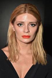 Mischa Barton sported a slicked-down center-parted hairstyle at the Chiara Boni La Petite Robe fashion show.