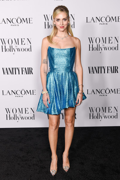 Chiara Ferragni Evening Pumps [cocktail dress,dress,clothing,shoulder,strapless dress,cobalt blue,electric blue,hairstyle,fashion model,fashion,chiara ferragni,me women in hollywood,lanc\u00e3,west hollywood,california,soho house,vanity fair,lanc\u00f4me women in hollywood celebration,celebration,khlo\u00e9 kardashian,fashion,hollywood,celebrity,model,vanity fair,supermodel,ganador]