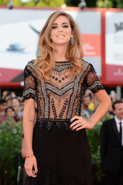 Chiara Ferragni Dark Nail Polish [hair,fashion,clothing,fashion model,hairstyle,beauty,dress,lady,red carpet,fashion show,palazzo del cinema,venice,italy,opening ceremony and gravity premiere - the 70th venice international film festival,70th venice international film festival,chiara ferragni]
