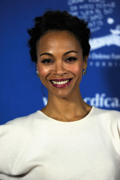 More Pics of Zoe Saldana Berry Lipstick (1 of 23) - Berry Lipstick Lookbook - StyleBistro