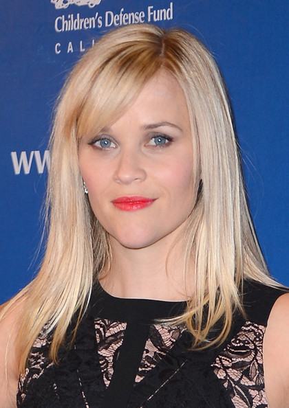 More Pics of Reese Witherspoon Long Side Part (1 of 10) - Long Side Part Lookbook - StyleBistro