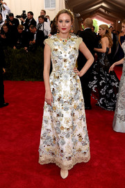 Brie Larson chose an intricately beaded Dolce & Gabbana gown for her Met Gala look.