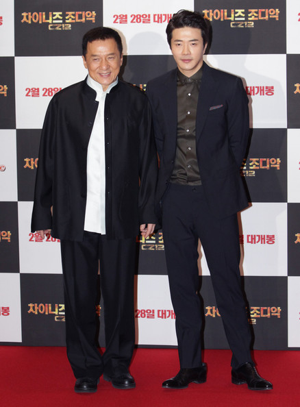 Jackie Chan was all smiles at the 'Chinese Zodiac' premiere in Seoul where he wore a classic Nehru suit.