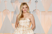 Chloe Grace Moretz Strapless Dress