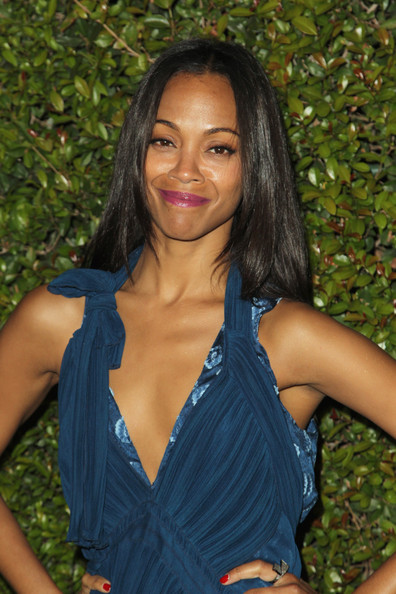 More Pics of Zoe Saldana Long Straight Cut (1 of 1) - Long Straight Cut Lookbook - StyleBistro