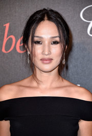 Nicole Warne attended the Chopard Gent's Party rocking a just-got-out-of-bed hairstyle.