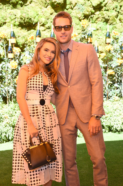 Chrishell Stause Print Dress [suit,fashion,yellow,formal wear,eyewear,event,dress,summer,fun,footwear,chrishell,justin hartley,l-r,los angeles,pacific palisades,california,will rogers state historic park,veuve clicquot polo classic]