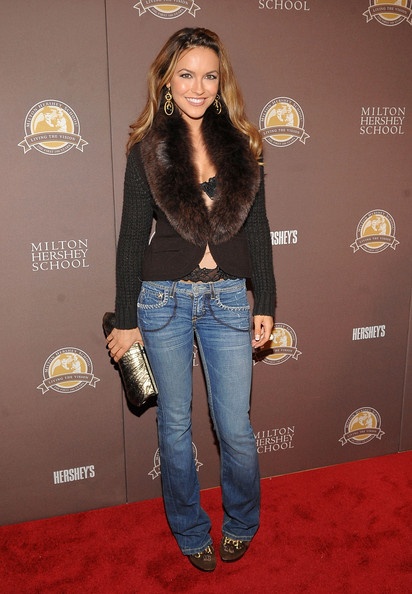 Chrishell Stause Fitted Jacket [milton hershey school documentary,clothing,carpet,red carpet,jeans,denim,fashion,footwear,outerwear,premiere,flooring,chrishell stause,new york city,the times center,premiere]