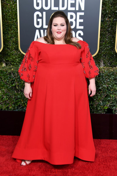 Chrissy Metz Off-the-Shoulder Dress [red carpet,clothing,carpet,dress,red,shoulder,premiere,flooring,fashion,a-line,arrivals,carpet,chrissy metz,golden globe awards,red carpet,red carpet fashion,celebrity,television,clothing,california,chrissy metz,76th golden globe awards,this is us,73rd golden globe awards,golden globe awards,red carpet,celebrity,television,red carpet fashion]