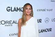 Chrissy Teigen One Shoulder Dress