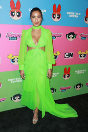 Julissa Bermudez lit up the Christian Cowan x The Powerpuff Girls show with her neon-green cutout gown.